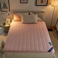 纯棉羊毛加厚床垫羊毛床垫床褥子1.8m床垫被1.5m榻榻米单双人 JSY-纯棉羊毛加厚床垫(粉红色)