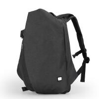 运动背包双肩包男书包中学生男时尚潮流大容量旅游旅行包 炫酷黑