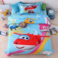 �棉卡通�W生宿舍床上用品三件套全棉男孩�和�床品1.2m床�稳吮惶�