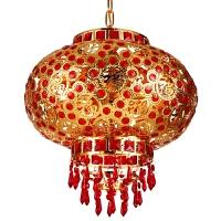 阳台中式吊灯大红结婚新年挂饰走马灯中秋节LED旋转水晶乔迁灯笼