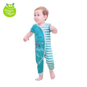 【每满100减50】婴儿夏季连体衣短袖哈衣新生儿外出衣服0-6-9个月爬爬服
