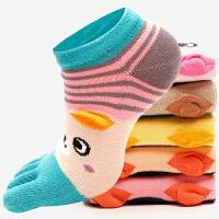 五指袜女棉秋冬款低帮船袜时尚可爱短袜分脚趾运动袜女士袜子