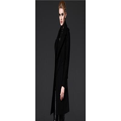 毛呢大衣女女装秋冬款上装英伦肩章中长款风衣外套 黑色 一般在付款后3-90天左右发货,具体发货时间请以与客服协商的时间为准