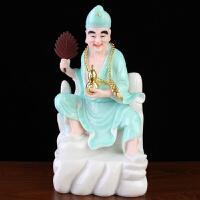 济公佛像活佛李修元济公菩萨降龙罗汉树脂佛像居家供养摆件16英寸