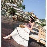 2018新款连衣裙巴厘岛沙滩裙女夏波西米亚海边度假吊带长裙露背显瘦 图片色 均码
