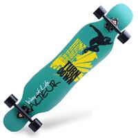 公路四轮滑板车 刷街长板男女4轮 双翘滑板
