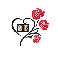 浪漫亚克力3d立体照片墙贴画卧室客厅床头装饰品创意自粘婚房布置