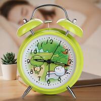 艾弗缇儿童闹钟可爱卡通学生用夜光静音数字时钟床头卧室创意懒人