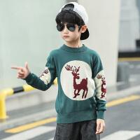 男童毛衣新款洋气儿童装套头加绒中大童秋冬款针织打底衫