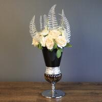 欧式家居样板房装饰品摆件 酒店会所仿真花瓶花艺套装工艺品摆设 花瓶套装