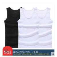 谢嘉儿三件装男士背心吊带内衣运动紧身跨栏健身修身型弹力夏季打底汗衫黑色+白色+白色