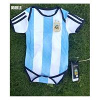 2018世界杯阿根廷足球服套装BB装 婴儿连体装 婴儿足球服 国家队足球服 宝宝足球服 红色