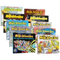 神奇校车第一辑10册 手绘彩绘版 英文原版绘本 Magic School Bus神奇的巴士 全英文版章节书系列读物 儿童