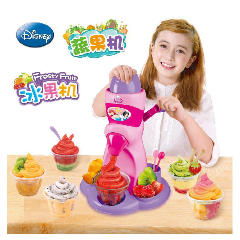 【领券立减50元】迪士尼雪糕机儿童冰沙冰激凌机冰淇淋机制作套装米奇公主冰果机玩具女孩活动专属【领券立减50元】 儿童早教益智玩具大促