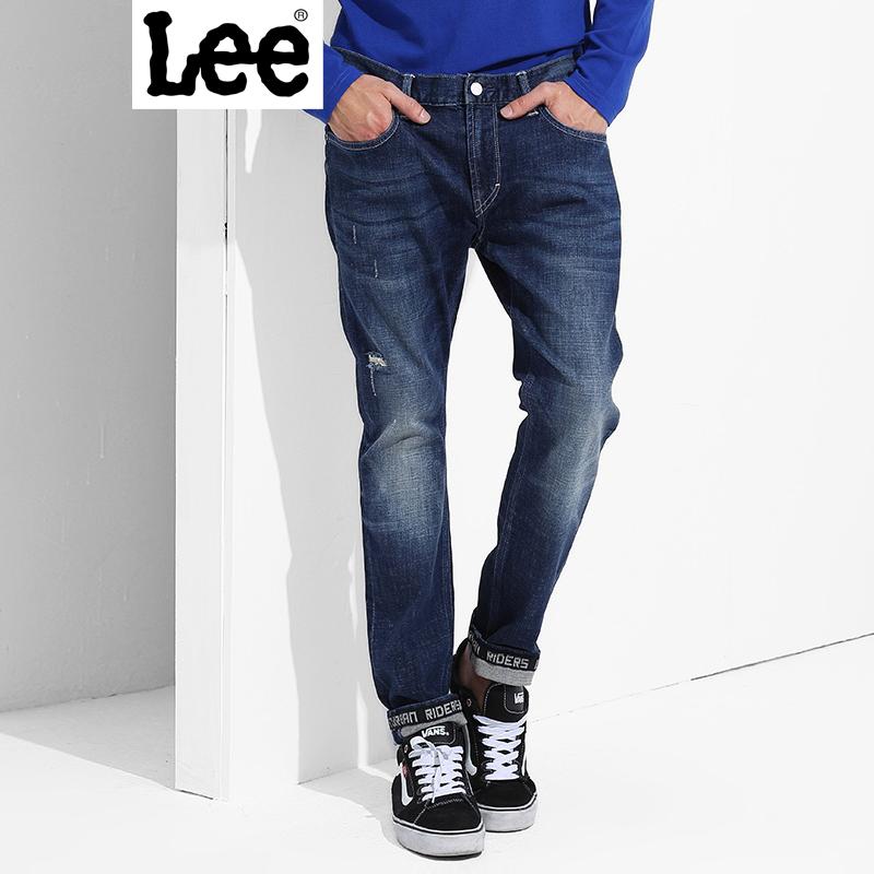 Lee【新款】男士牛仔裤 2017秋冬新装牛仔裤男 709版型 修身小直脚 都市骑士系列 L11709Z022SV