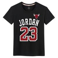 潮牌T恤男士纯棉公牛23号篮球运动胖子短袖夏季青少年体恤学生�B