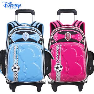 迪士尼男女儿童小学生双肩书包可拆卸卡通拉杆书包SM88067