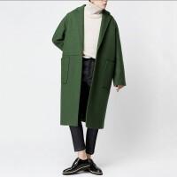 高端羊绒大衣男中长款青年茧型毛呢大衣男长款过膝冬季韩版外套潮