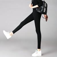 打底裤女外穿加绒加厚冬季黑色长裤子高腰显瘦紧身九分小脚铅笔裤