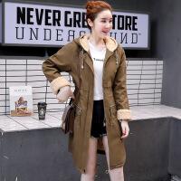 冬季新款女装韩版中长款宽松加厚军工装棉衣厚外套潮