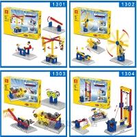 儿童玩具男孩女孩积木非电动小颗粒启蒙益智拼装齿轮机械百变创意
