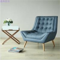 沙发椅单人简约现代皮艺休闲阳台高背老虎椅书房卧室小沙发椅