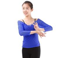 芭蕾舞蹈练功服上衣 丹诗戈长袖网纱春夏女健美体操舞蹈服装
