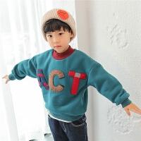男童卫衣2017新款冬季韩版儿童打底冬装套头加绒加厚保暖宽松潮