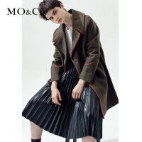 MOCO时尚中长款羊毛呢大衣外套女秋冬MA1631COT04 摩安珂