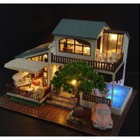 智趣屋房子玩具diy手工制作小屋大型别墅模型拼装男生女创意生日