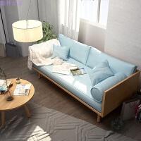 沙发小户型欧式沙发椅布艺小沙发木沙发组合客厅