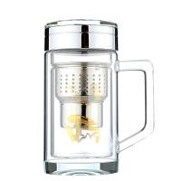 富光银龙玻璃杯292-320ml、 280ml双层玻璃杯 能量石水杯