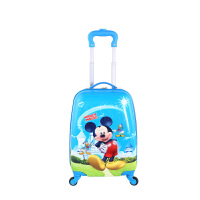 卡通蛋壳儿童拉杆箱万向轮孩18寸小学生行李箱孩户外旅行箱 黄色 18寸草地鼠