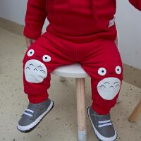 婴儿春秋装女童加厚保暖裤子打底裤1岁3个月男宝宝长裤