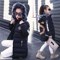 冬秘新款童装 女童5字棉衣 中大儿童外套中长款