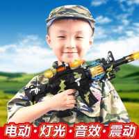 婴幼儿童电动玩具枪声光音乐手枪宝宝小男孩仿真冲锋抢2-3-6岁