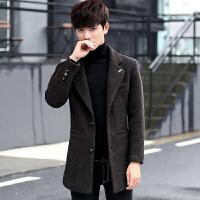 新款秋冬季毛呢大衣男中长款呢子外套毛呢风衣妮子韩版修身潮