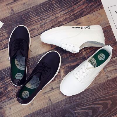 环球 女鞋小白鞋秋季女新款百搭韩版休闲鞋学生板鞋平底帆布鞋