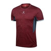KELME卡尔美 K27C7007 男式撞色拼接圆领短袖运动T恤 舒适透气运动健身服 休闲T恤