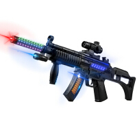 儿童宝宝电动声光音乐震动发光冲锋枪男孩小孩塑料玩具枪1-3岁