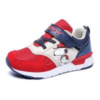 史努比童鞋男童运动鞋新款儿童休闲鞋女童网面透气跑步鞋S71*867
