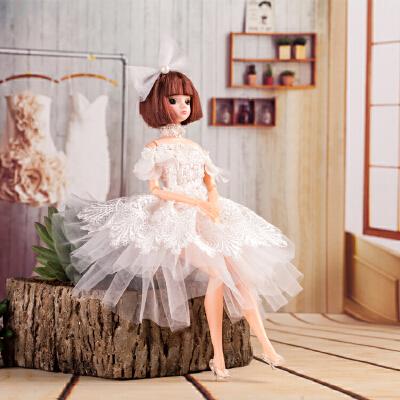 公主娃娃多关节汽车房间载摆件女孩公主玩具生日节日礼物