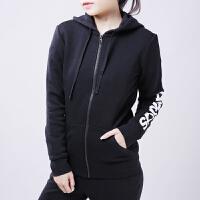 Adidas阿迪达斯 女子 运动夹克 针织连帽保暖外套BK7050