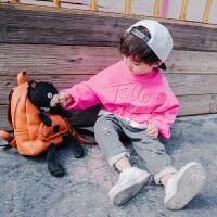 男童春秋薄款长袖套头卫衣新款纯棉小童儿童宽松刺绣童装宝宝上衣