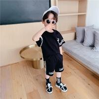 【2件2折】左西男童套装夏装纯棉儿童夏天运动短袖中大童夏季洋气潮2021新款