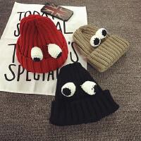 男童帽冬季宝宝帽子儿童毛线帽女童针织帽秋天套头帽护耳帽韩版潮