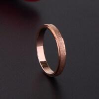 韩版时尚磨砂戒指女尾戒情侣戒指食指钛钢饰品镀18k玫瑰金