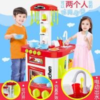 小女孩做饭过家家玩具套装女童宝宝餐具厨具儿童出水仿真厨房