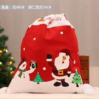 圣诞节礼物袋圣诞老人背袋装饰品装扮用品场景布置儿童创意小礼品