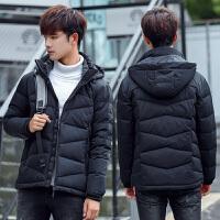 男士羽绒服韩版短款反季2017新款冬季修身外套青年潮连帽